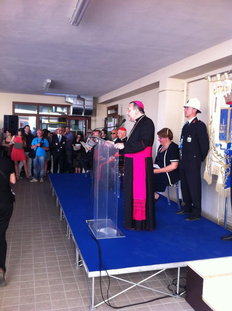 Inaugurazione dormitorio Pescara Ondisplay cura la parte tecnica