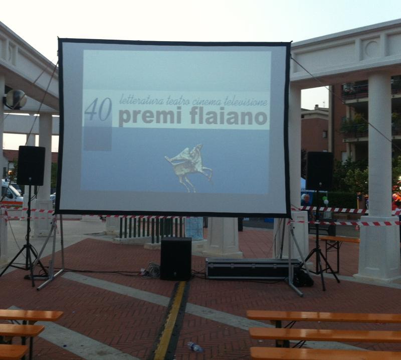 Videoproiezione premio Flaiano
