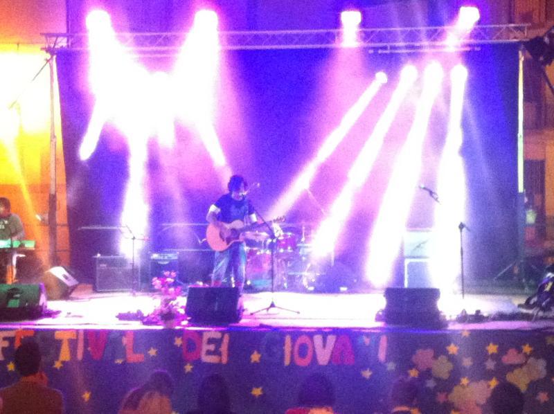 Festival Farindola 2013 cantante palco