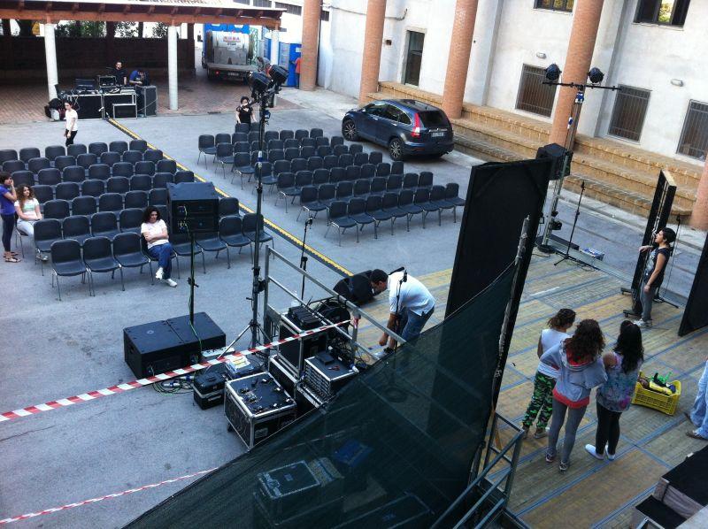 Fotografia allestimento palco