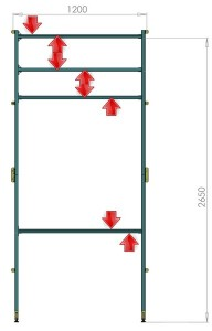 Struttura-per-LIM-e-proiettore-FlyBoard-2-per-pareti-in-cartongesso_2